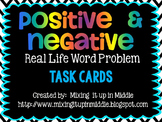Positive and Negative Integer Word Problem Task Cards