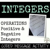Positive and Negative Integers Activity Coded message
