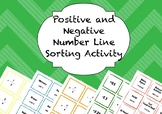 Positive and Negative Number Line Sorting Activity