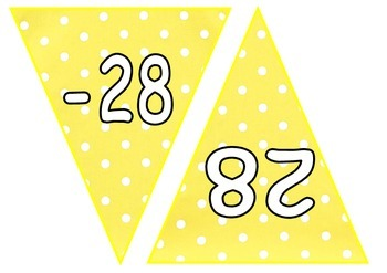 Positive and Negative Number Maths Bunting