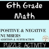Positive and Negative Numbers Puzzle Activity