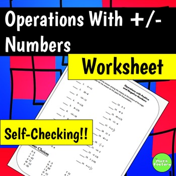Positive and Negative Numbers All Operations