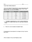 Positive and Negative Numbers Practice Common Core Problem Set