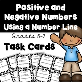 Positive and Negative Numbers on a Number Line Task Cards
