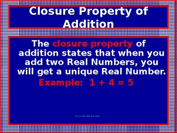 Power-Point:  Addition of Positive and Negative Real Number