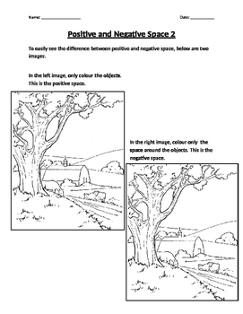 Positive and Negative Space Worksheet