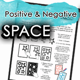 Positive and Negative Space Art Distance Learning or Sub L