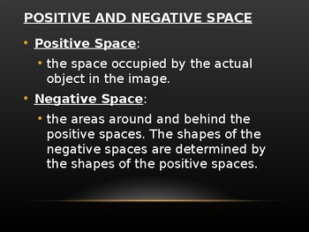 Positive and Negative Space PowerPoint and Assessment Drawing