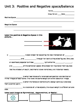 Positive and Negative Space & Symmetry Worksheet
