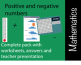 Positive and negative number math lesson