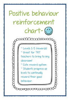 Positive behaviour reinforcement chart