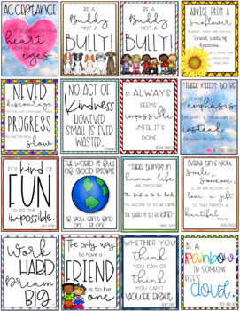 Positive classroom posters