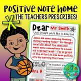 Positive note home template {+ fun 'teacher prescription' reward}