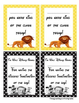 Positive notes home Disney themed