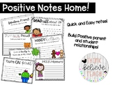 Positive notes home - Happy notes for students and parents!