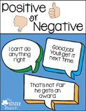 Positive or Negative?? {Teaching Positive Behavioral Skills}