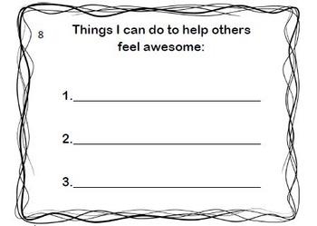 Positive thinking I am awesome mini book