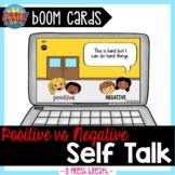 Positive vs Negative Self Talk Boom Digital Task Cards   D