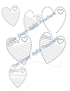 Positive writing- heart- Valentines Day