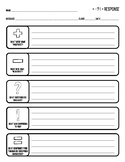 Positives/Negatives Response Graphic Organizer
