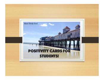 Positivity Cards For Student's Behavior In The Classroom