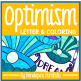 Positivity Activity:  Positive Thinking Letter & Coloring Pages