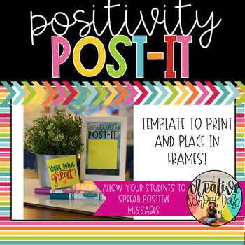 Positivity Post-It template