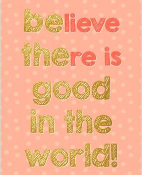 Positivity Posters- Coral + Gold