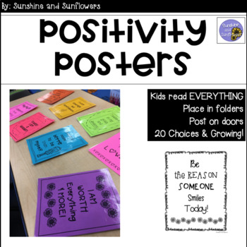 Positivity Posters - Sunflower Themed