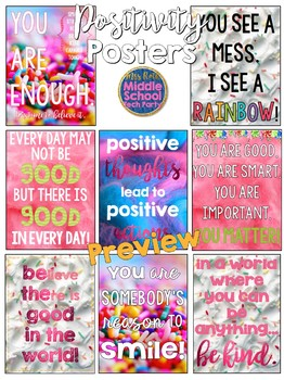 Positivity Quotes Saying Posters- Candy Coma