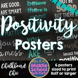 Positivity Quotes Saying Posters- Chalkboard Chic