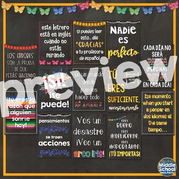 Positivity Quotes Saying Posters ¡en español!  *Moda Mariposa*