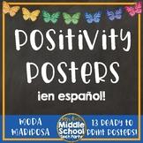 Positivity Quotes Saying Posters ¡en español!  *Moda Mariposa*