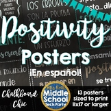 Positivity Quotes Saying Posters ¡en español!  *Chalkboard Chic*