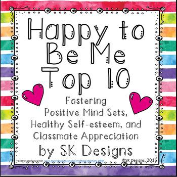 Positive Mind Sets, Attitudes and Self-esteem, Character-building Activity