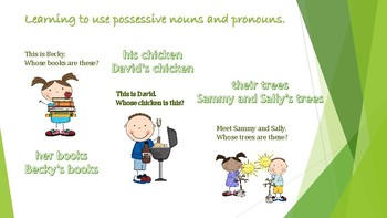 Possesive Nouns and Pronouns English Version