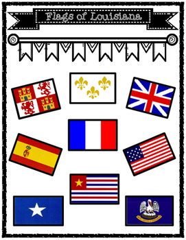Possession of Louisiana Historical Flags