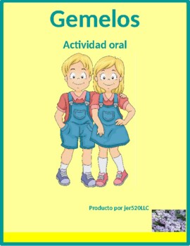 Possession with DE in Spanish Gemelos Twins Speaking activity