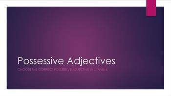 Possessive Adjective Practice PowerPoint