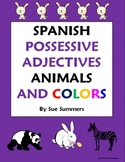 Spanish Possessive Adjectives With Animals and Colors Worksheet