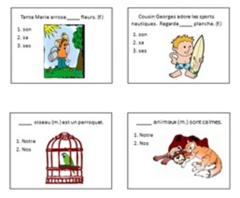 Possessive Adjectives Multiple Choice