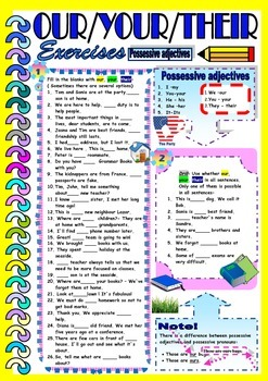 Possessive Adjectives- OUR / YOUR /THEIR