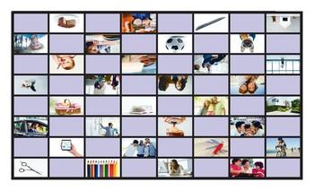 Possessive Adjectives-Possessive Case Spanish Legal Size Photo Checkers Game