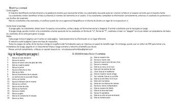 Possessive Adjectives-Possessive Case Spanish Legal Size Photo TTT-Bingo Game