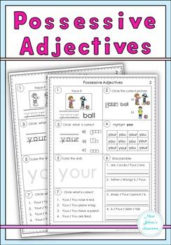Possessive Adjectives Set