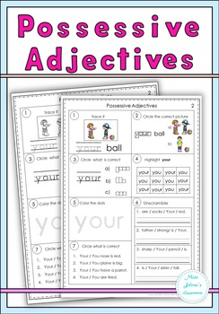 Possessive Adjectives Set