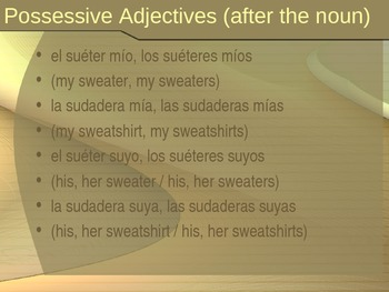 Possessive Adjectives - Short and Long Form
