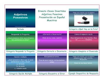 Possessive Adjectives Spanish PowerPoint Presentation