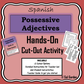 Possessive Adjectives in Spanish - Hands-on Cutout Activity