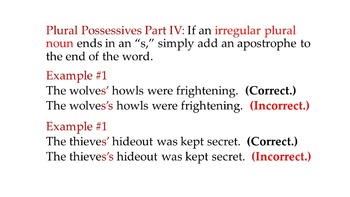 Possessive Apostrophes